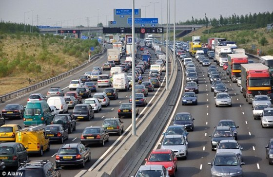The M25 in its usual state
