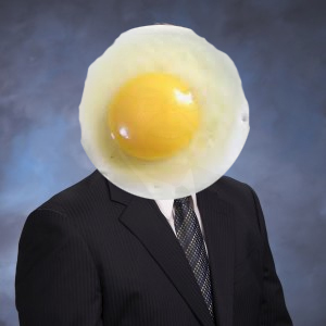 Candidate-with-egg-on-face