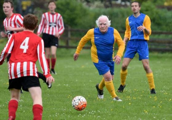 80-year-old is 'Britain's oldest footballer', Dorset, Britain - 21 May 2016